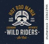 vintage motorcycle rider helmet ... | Shutterstock .eps vector #210611944