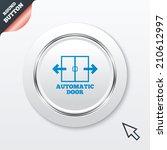 automatic door sign icon. auto...