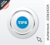 tips sign icon. star symbol....