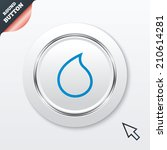 water drop sign icon. tear...