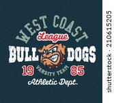 vintage bulldogs textured...   Shutterstock .eps vector #210615205