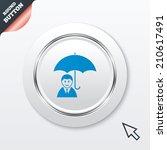 human insurance sign icon. man...