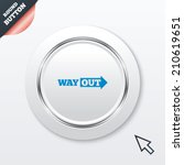 way out right sign icon. arrow...