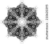 mandala. decorative hand drawn... | Shutterstock . vector #210620395
