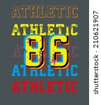 college athletic spirit vector... | Shutterstock .eps vector #210621907