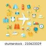 flat design style modern vector ... | Shutterstock .eps vector #210623329