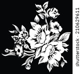 black and white large bouquet... | Shutterstock .eps vector #210629611