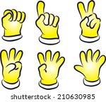 vector glove and numbers | Shutterstock .eps vector #210630985