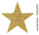 golden glittering star shaped... | Shutterstock . vector #21063595