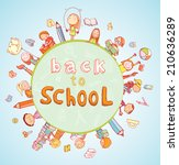 back to school  banners and... | Shutterstock .eps vector #210636289