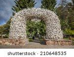 elk antler arches in jackson... | Shutterstock . vector #210648535
