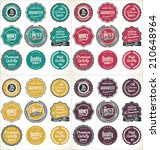 high quality labels collection | Shutterstock .eps vector #210648964