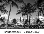 miami beach  florida hotels and ... | Shutterstock . vector #210650569