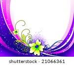 flower vector composition   Shutterstock .eps vector #21066361