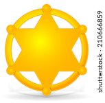 sheriff's star  badge with... | Shutterstock .eps vector #210666859