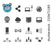network icon | Shutterstock .eps vector #210671185
