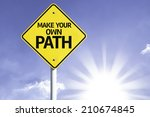 make your own path road sign... | Shutterstock . vector #210674845