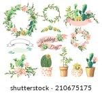 wedding graphic set cute... | Shutterstock .eps vector #210675175