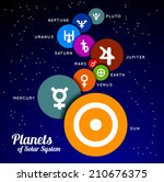 planet of solar system. vector...
