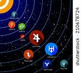 planet of solar system.... | Shutterstock . vector #210678724