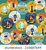 back to school. vector... | Shutterstock .eps vector #210687649