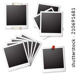 ilustration of many blank photo ... | Shutterstock .eps vector #210691681