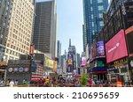 new york city   july 22 ... | Shutterstock . vector #210695659