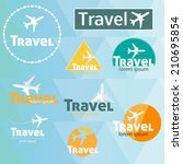 travel's logo vector set | Shutterstock .eps vector #210695854