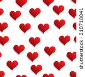 seamless background with hearts | Shutterstock .eps vector #210710041