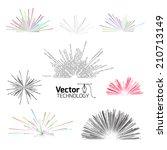 tech line explosion | Shutterstock .eps vector #210713149
