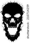 skull painted blots. unusual... | Shutterstock .eps vector #210714259