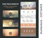 one page website template and...