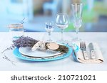 Dining Table Setting With...