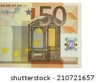 one of fifty euro banknote... | Shutterstock . vector #210721657