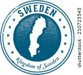 sweden european country travel... | Shutterstock .eps vector #210725545