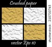 vintage vector creased paper...   Shutterstock .eps vector #210733765