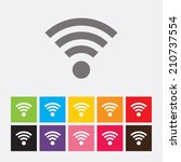 wireless network icon in flat... | Shutterstock .eps vector #210737554
