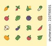 vegetable element vector color... | Shutterstock .eps vector #210750031
