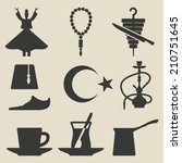 turkish national icons set  ... | Shutterstock .eps vector #210751645