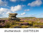 view from hathersage moor in... | Shutterstock . vector #210755134
