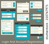 user interface login and... | Shutterstock .eps vector #210767971