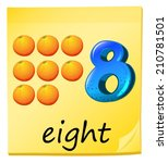 illustration of the eight... | Shutterstock .eps vector #210781501