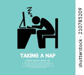 taking a nap graphic symbol...   Shutterstock .eps vector #210785209
