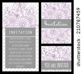 wedding invitation cards with... | Shutterstock . vector #210787459