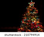 snow covered christmas tree...