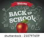 welcome back to school with... | Shutterstock . vector #210797659
