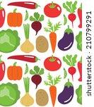 seamless vegetable pattern... | Shutterstock .eps vector #210799291