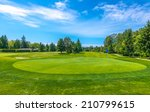 beautiful golf course in a... | Shutterstock . vector #210799615
