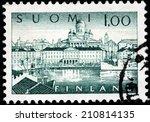 finland   circa 1963  a stamp... | Shutterstock . vector #210814135