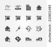 real estate icons   vector real ... | Shutterstock .eps vector #210821485